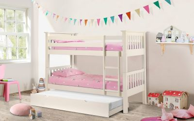 Shaker Deluxe Bunk Bed in Off White -3863