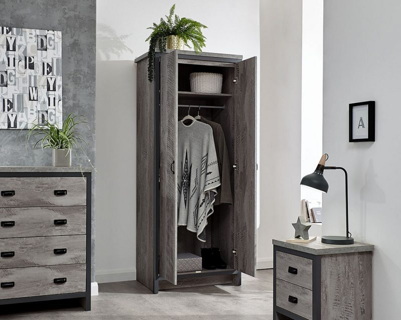 Boston 3 Piece Bedroom Set in Grey -4160