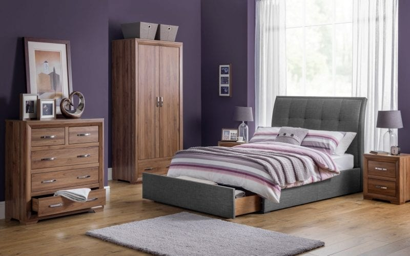 Buckingham Walnut Finish Combi Wardrobe -4051