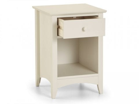 Cameo 1 Drawer Bedside in Stone White -4056