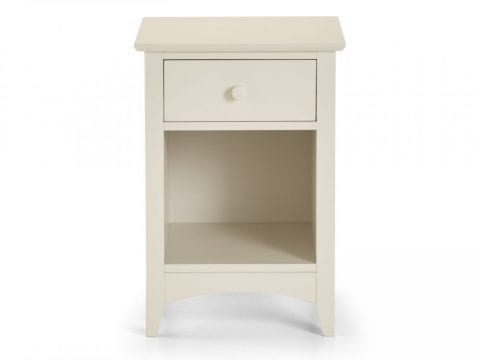 Cameo 1 Drawer Bedside in Stone White -4057