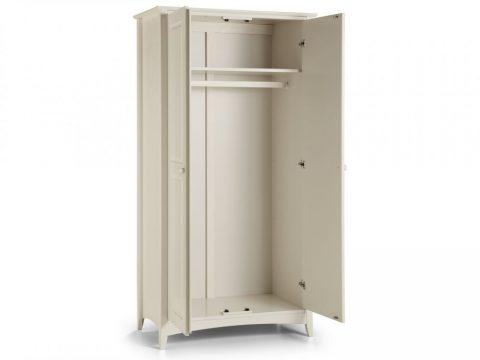 Cameo 2 Door Wardrobe in Stone White -4077