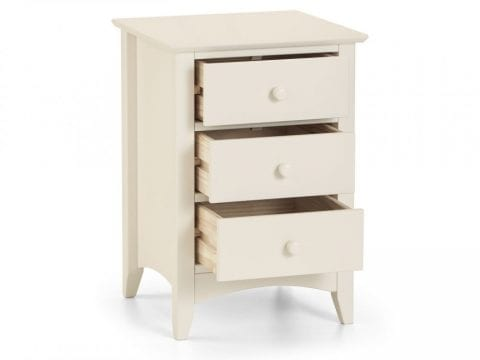 Cameo 3 Drawer Bedside in Stone White -4062