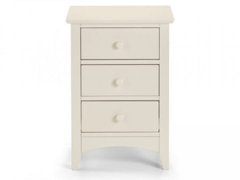 Cameo 3 Drawer Bedside in Stone White -4060