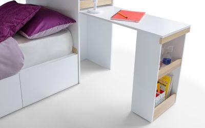 Solar Storage Bunk with Desk in White -3857