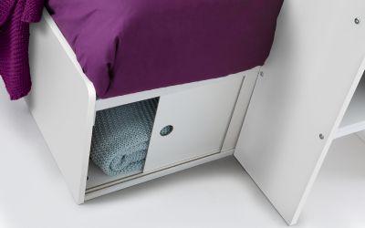 Solar Storage Bunk with Desk in White -3858