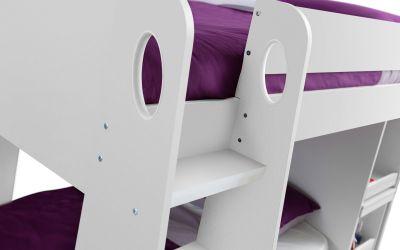 Solar Storage Bunk with Desk in White -3860