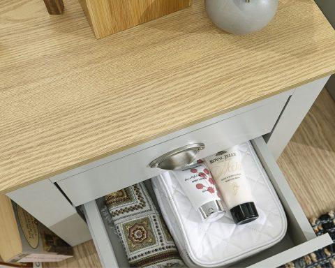 Lancaster Grey and Oak 2 Drawer Bedside -4088