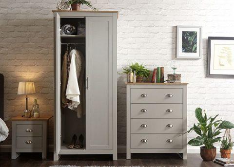 Lancaster 3 Piece Grey Bedroom Set-4227