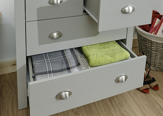 Lancaster Grey and Oak 2+2 Chest -4092