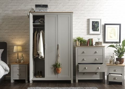 Lancaster 4 Piece Grey bedroom Set -0
