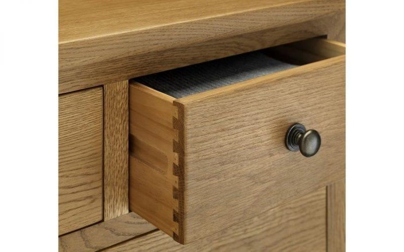 Lola Oak 3 Drawer Bedside -3870