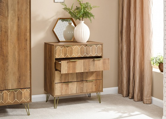 Orleans Stylish 4 Drawer Chest -4147