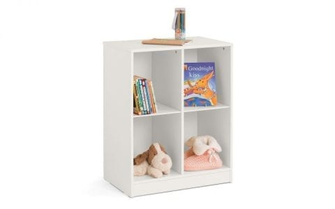 Pluto 4 Cube Bookcase in Stone White -0