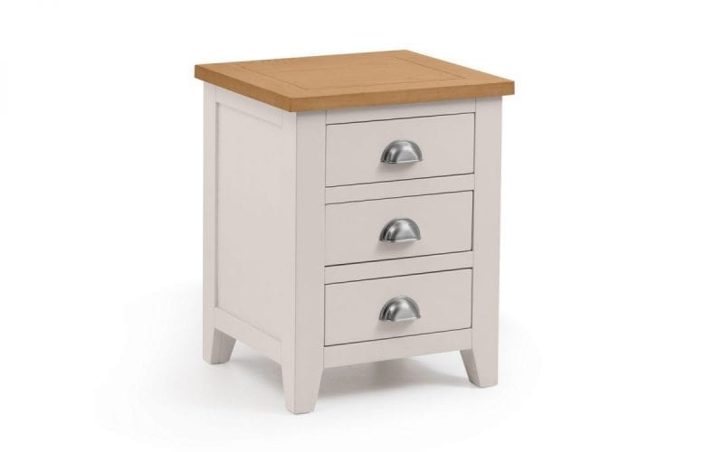 Richmond Grey and Oak 3 Drawer Bedside -0