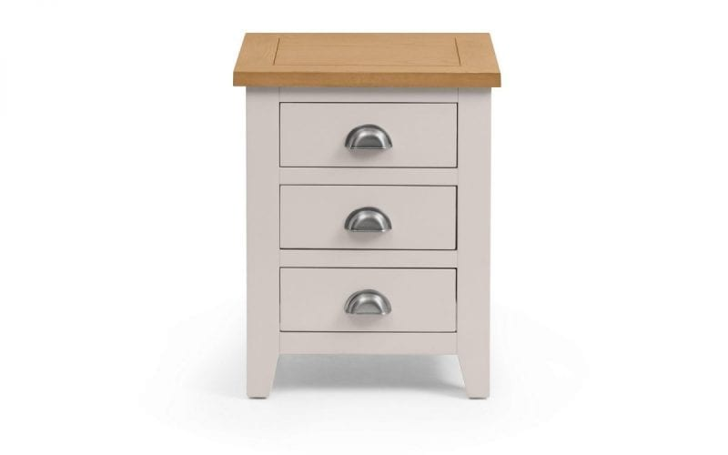 Richmond Grey and Oak 3 Drawer Bedside -3968