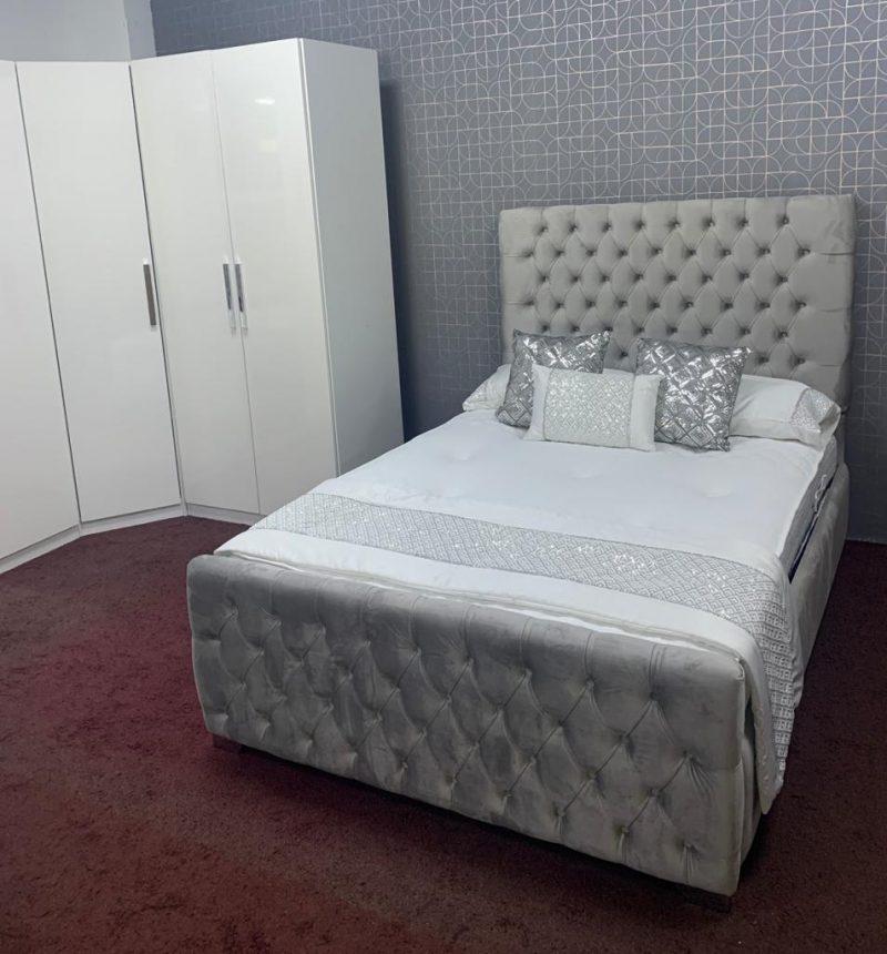 Rosie Upholstered Bed Fame -0