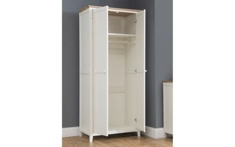 Salerno Cream and Oak 2 Door Robe -4033