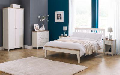Salerno Cream and Oak 1 Drawer Bedside -4027