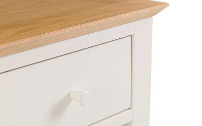 Salerno Cream and Oak 1 Drawer Bedside -4026