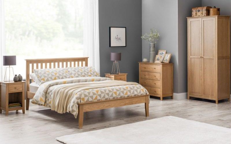 Salerno Oak 1 Drawer Bedside -4016