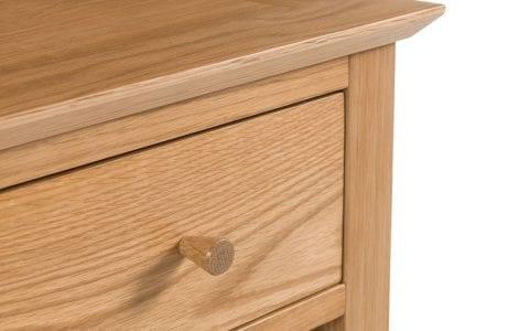 Salerno Oak 1 Drawer Bedside -4015