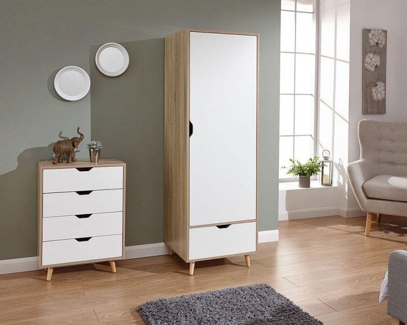 Stockholm 1 Door Wardrobe -0