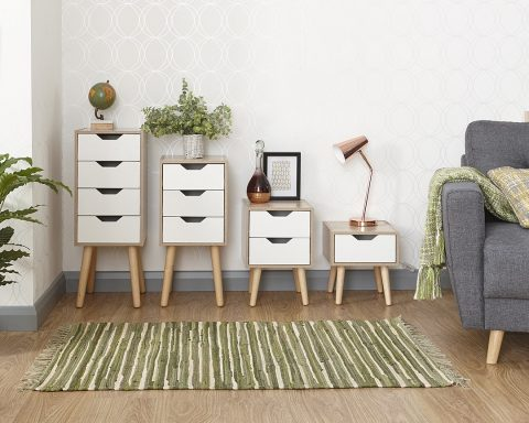 Stockholm 1 Drawer Nightstand -4102