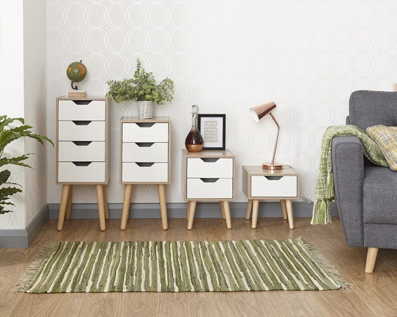 Stockholm 2 Drawer Nightstand -4106