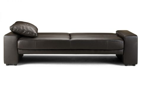 Toledo Sofa Bed in Black Faux Leather -4208