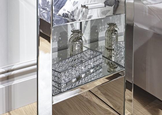Venetian Mirrored 1 Drawer Bedside -4129