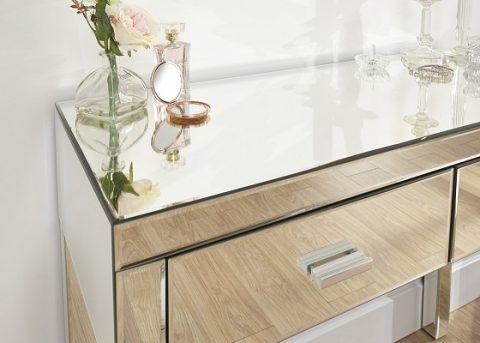 Venetian 2 Drawer Mirrored Dressing Table -4121