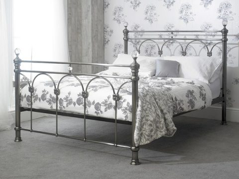 Sonita Metal and Crystal Bed Frame-0