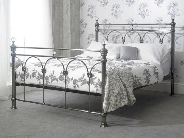 Sonita Metal and Crystal Bed Frame-0