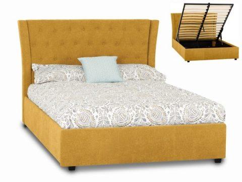 Camden Ottoman Bed Frame in Mustard-0