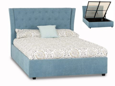 Camden Ottoman Bed Frame in Blue-0