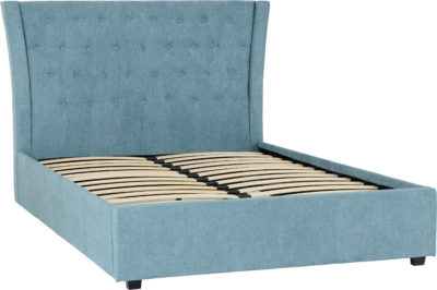 Camden Bed Frame in Blue Fabric-0