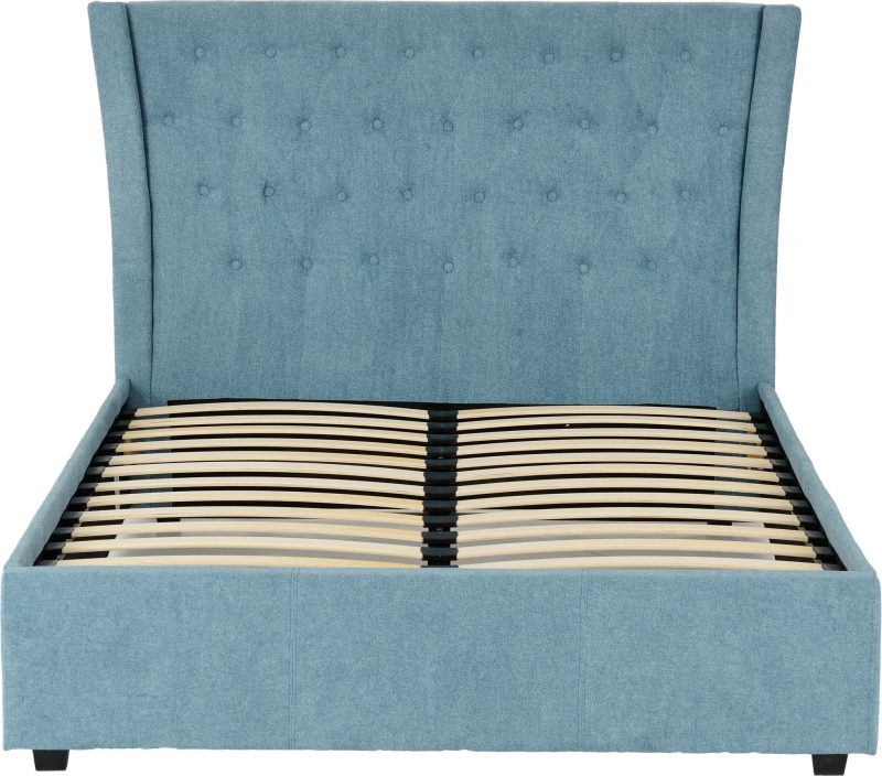 Camden Bed Frame in Blue Fabric-4305