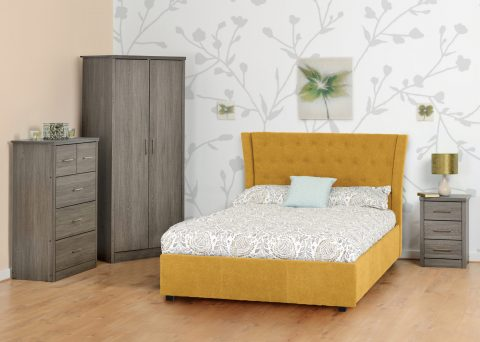 Camden Bed Frame in Mustard-0