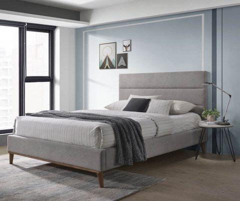 Hamilton Light Grey Bed Frame-0