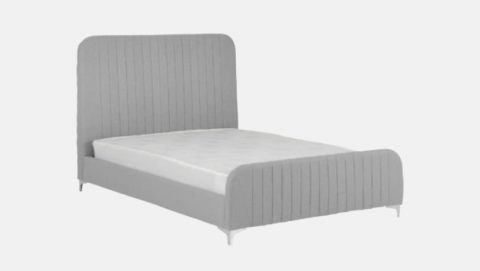 The Loaf Fabric Bed Frame in Grey-4288