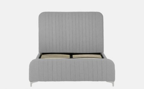 The Loaf Fabric Bed Frame in Grey-4289