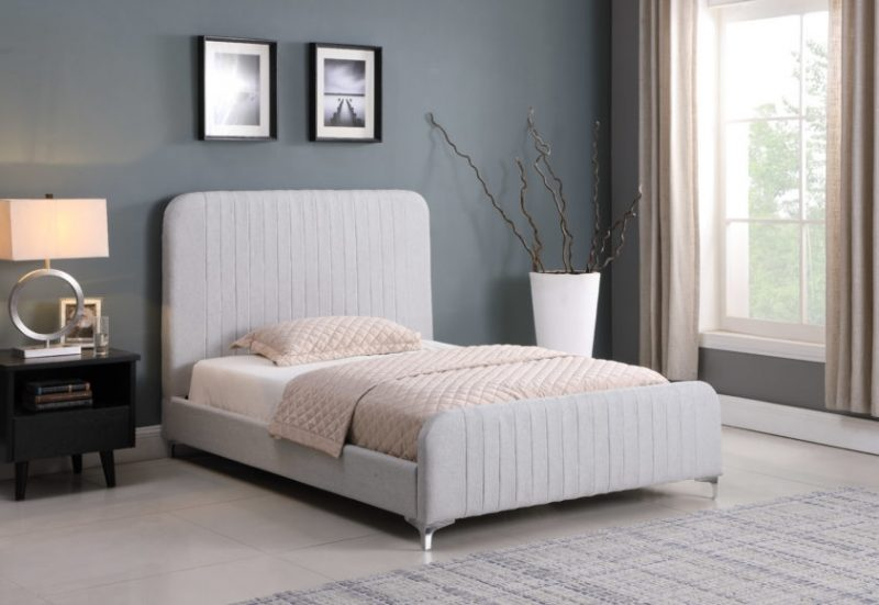 The Loaf Fabric Bed Frame in Grey-0