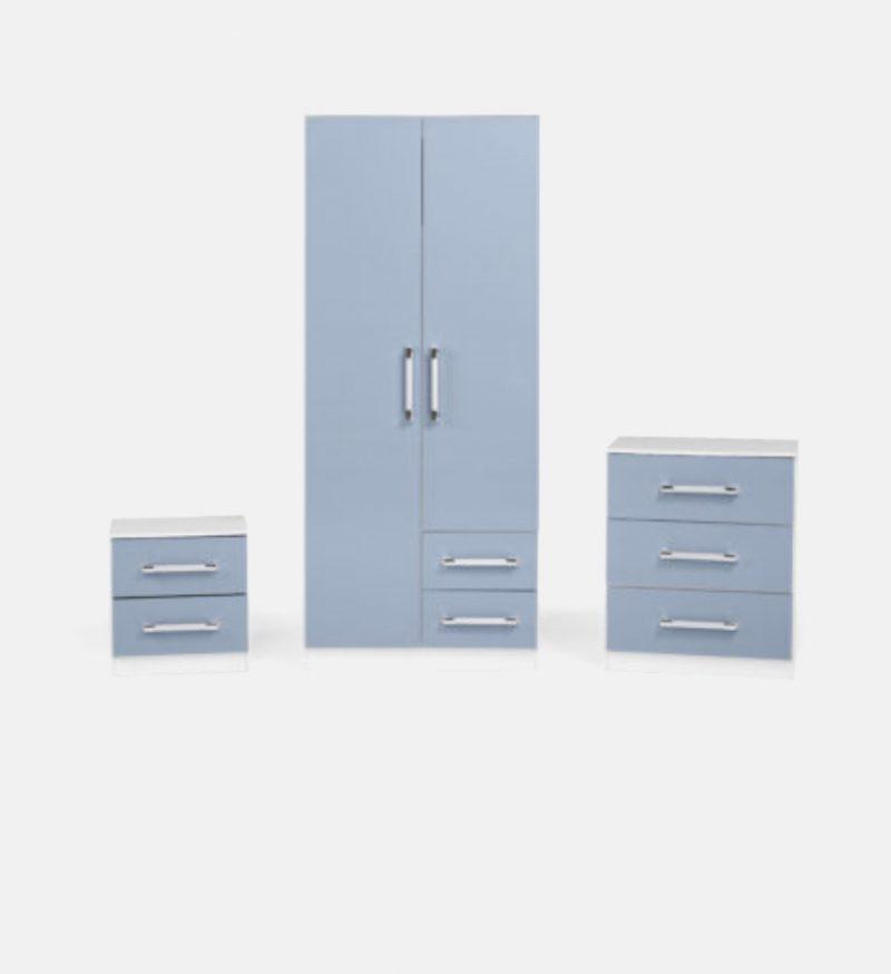 Jacob 3 Piece Bedroom Set in Blue-0