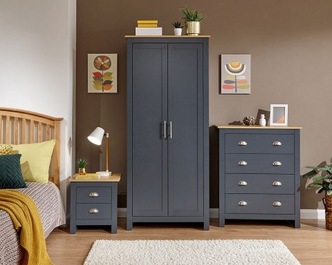 Lancaster 3 Piece Bedroom Set in Slate Blue-0