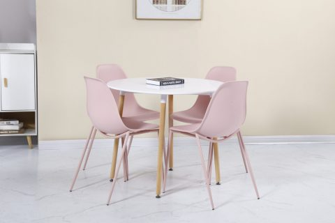 Lindon Dining Set in Pink-0