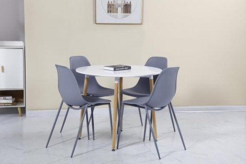 Lindon Dining Set in Grey/Oak-0
