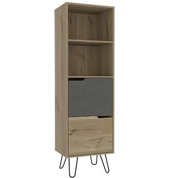 Manhattan Tall Bookcase with 2 Doors -0
