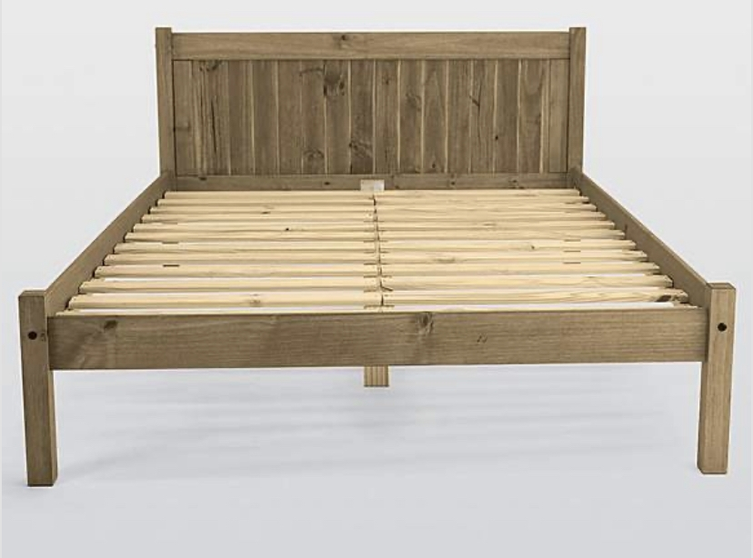 Mya Rustic Wooden Bedframe All About Beds