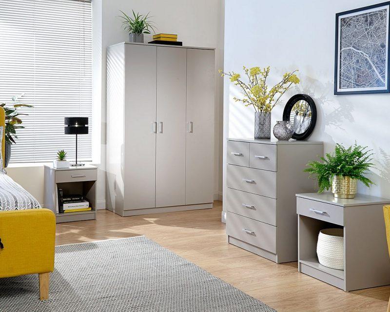 Panama 4 Piece Bedroom Set in Grey -4238